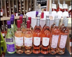 Variety of Rose Wines at Main Street Wine Cellars in Madison NJ