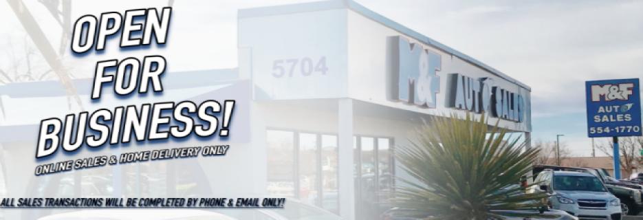 M & F Auto Sales banner Albuquerque, NM