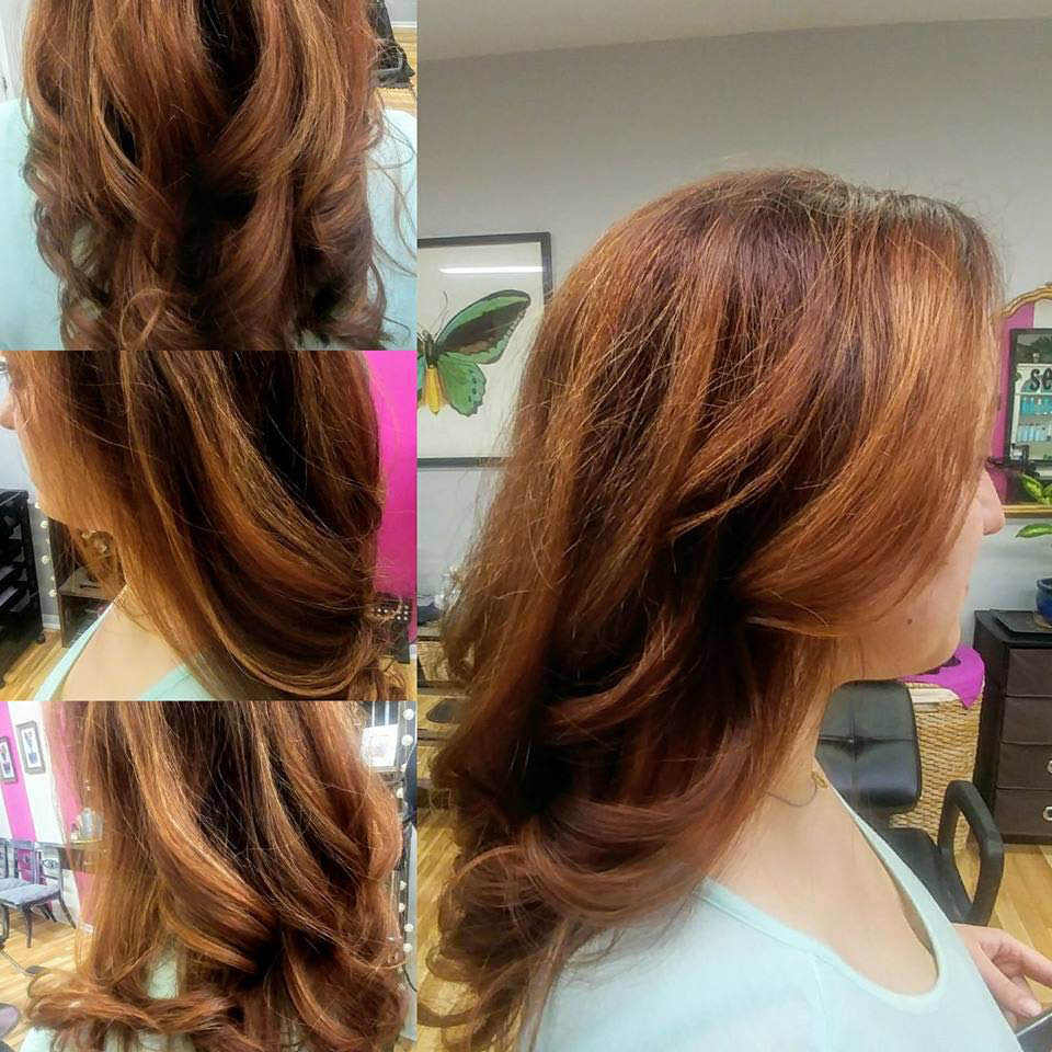 Mane Obsession by Brittany Yorkville haircut style updo coloe highlight foil
