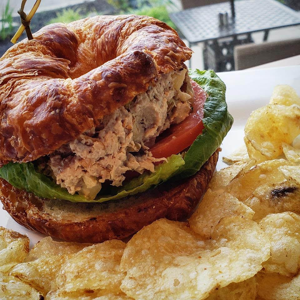 chicken salad sandwich lunch