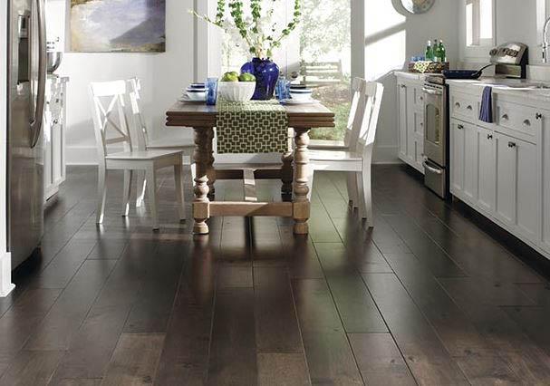 Kitchen plank flooring by Mannington.