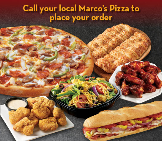 Catering flyer for Marco's Pizza.