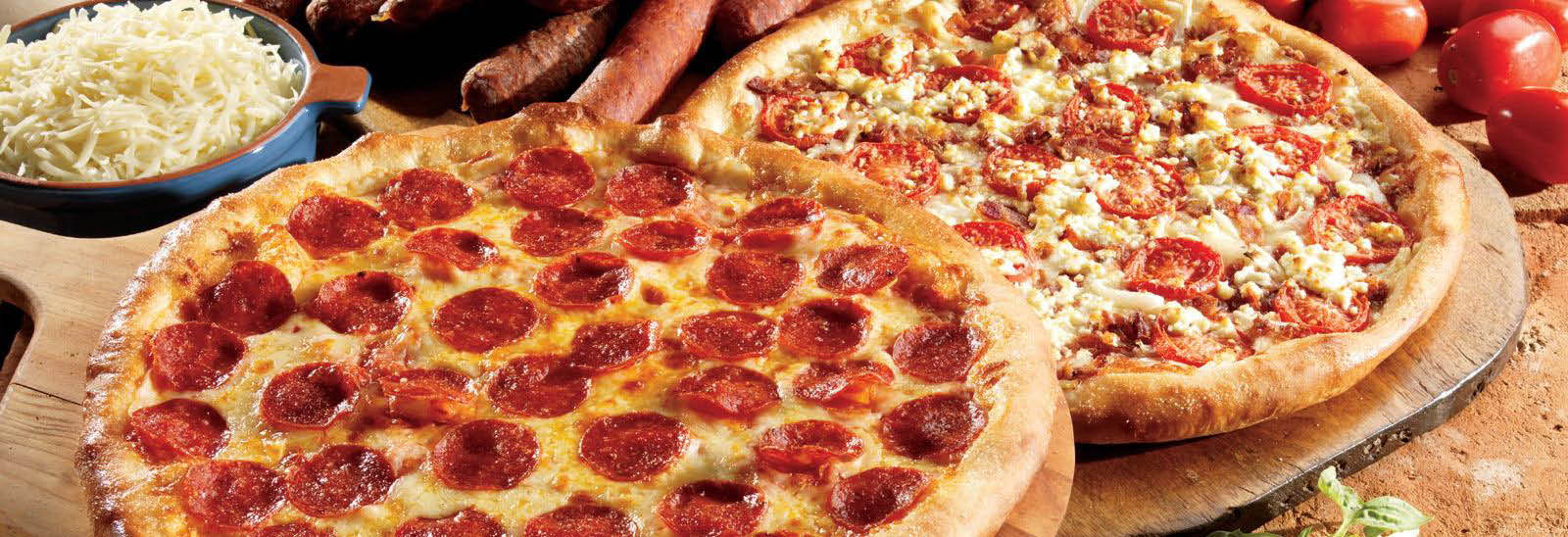 Pepperoni pizza served at Marcos Pizza.