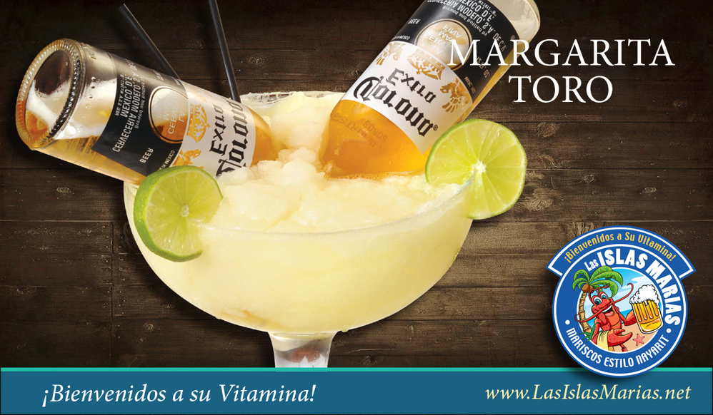 Have a margarita with Corona at Las Islas Maria Seafood Restaurant