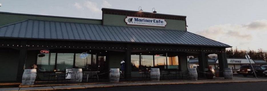 Exterior of Mariner Cafe in Sequim, WA banner