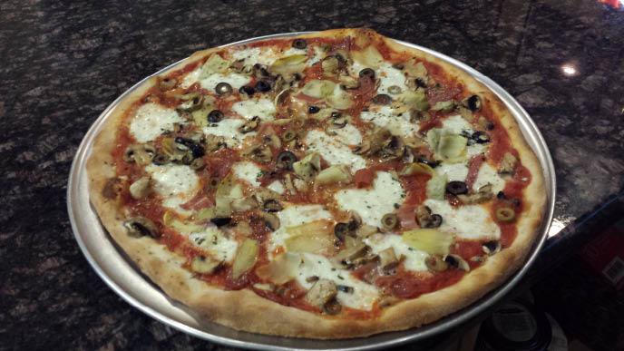Pizza at Mario's Italian Restaurant & Pizza