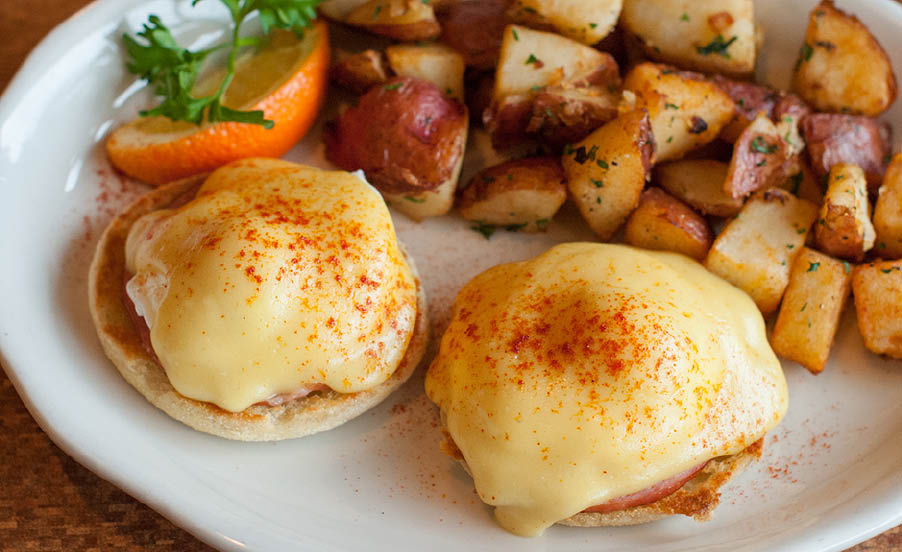 Eggs Benedict on our breakfast menu. Always a good choice