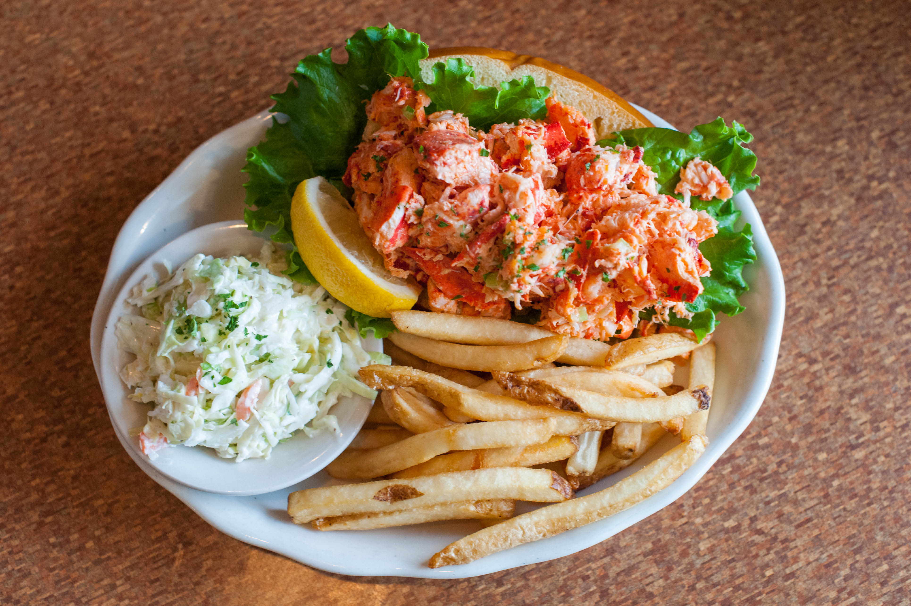 Lobster salad rolls are a favorite for lunch or dinner & available at all our restaurants & at the Tavern Too