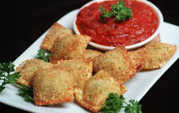 Breaded Ravioli at Massimos Pizzeria