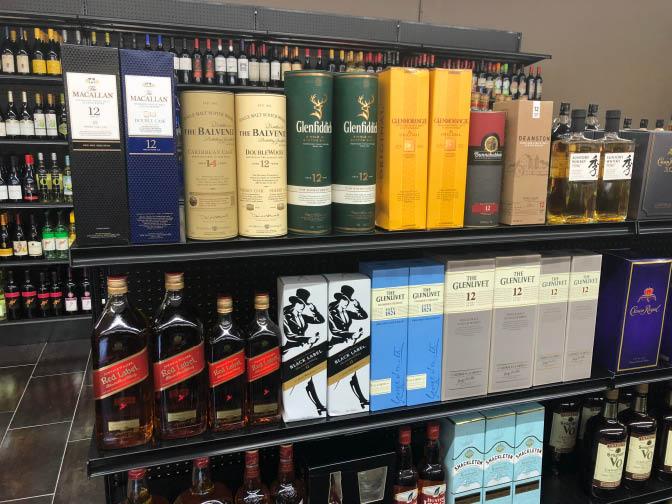 Mastin Discount Liquor selection of fine Scotch