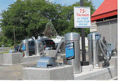 Picture of vacuums at Mattis Auto Wash in Flushing, MI