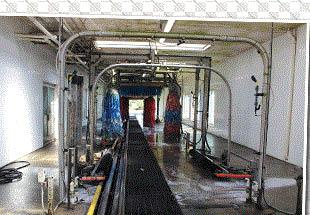 NeoGlide foam brushes at Mattis Auto Wash in Flushing, MI