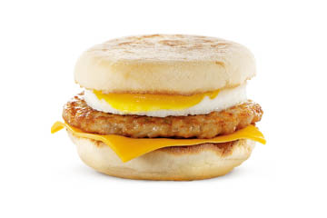 McDonald's Greenfield, IN, Lawrence, IN, Fishers, IN, Indianapolis Sausage McMuffin with Egg