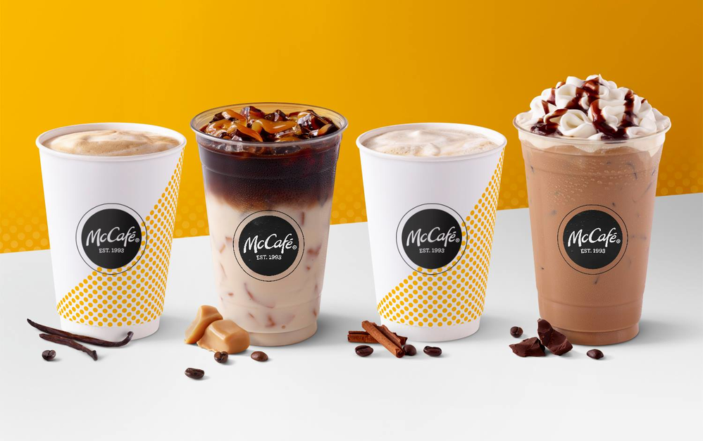 Deliciously refreshing cold brew frozen McCafe drinks
