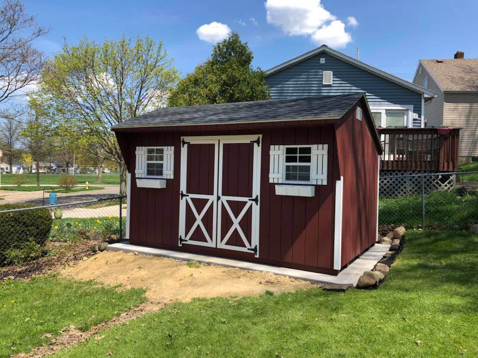 wooden shed at pennsylvania home
