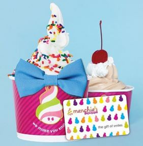menchie's frozen yogurt and cakes in frederick, md sundae gift cards