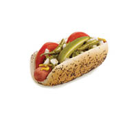 Hotdog with all of the fixins
