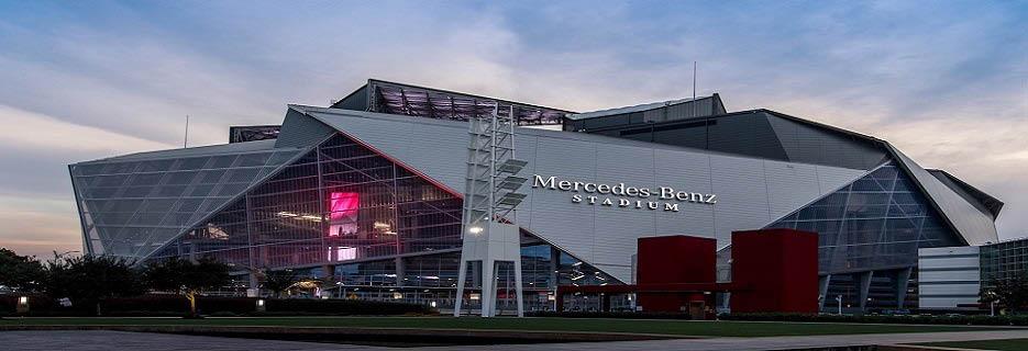 Mercedes-Benz Stadium banner