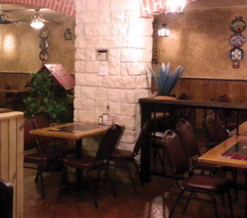 dining area at Mexico Real in Fort Worth, TX