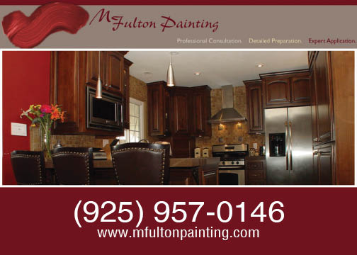 M. Fulton Painting bay area. We would love to repaint your kitchen this summer.