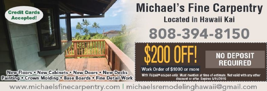 Michael's Remodeling and The Door Man in Honolulu Banner ad