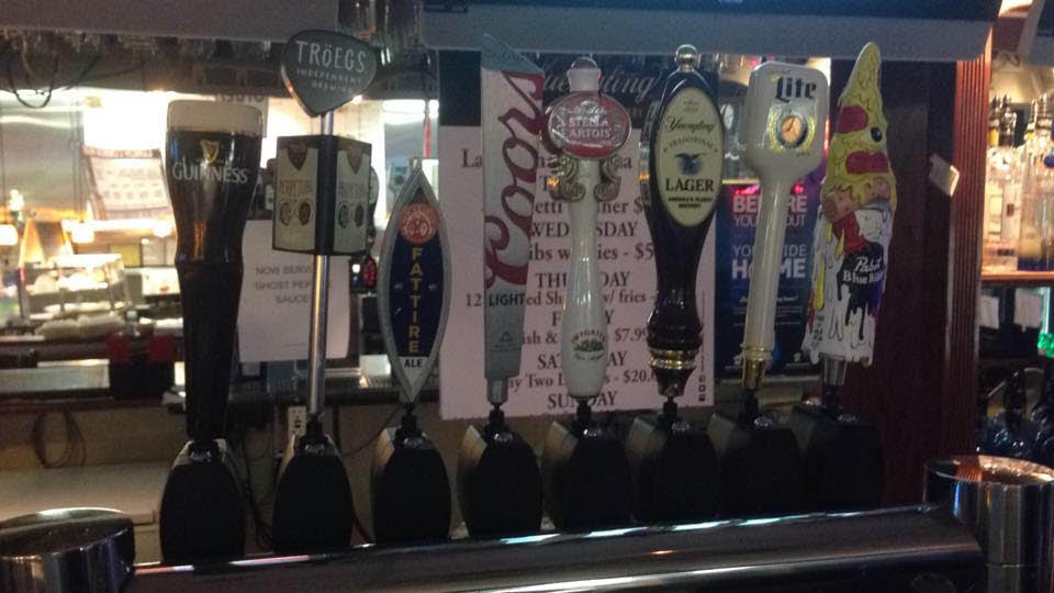 domestic beer on tap and a full bar in Shrewsbury, PA