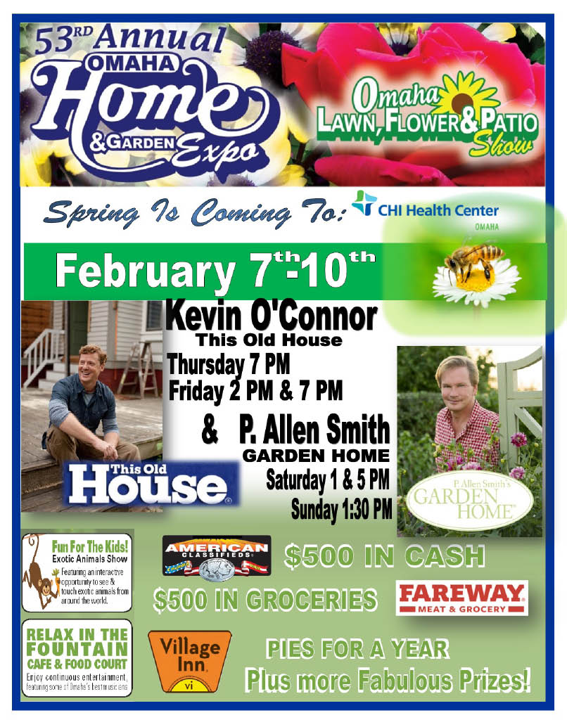 food court; Omaha Home and Garden Expo; CHI Health Center; events in February 2019; Mid-America Expos
