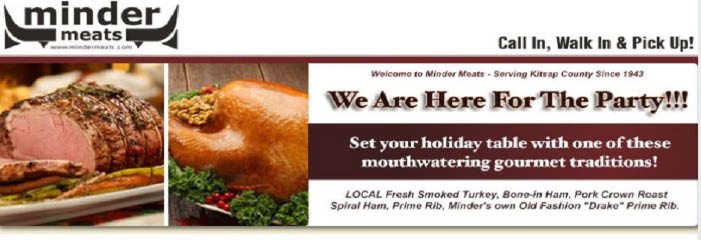 Buy a Minder Meats gourmet turkey for your next event banner
