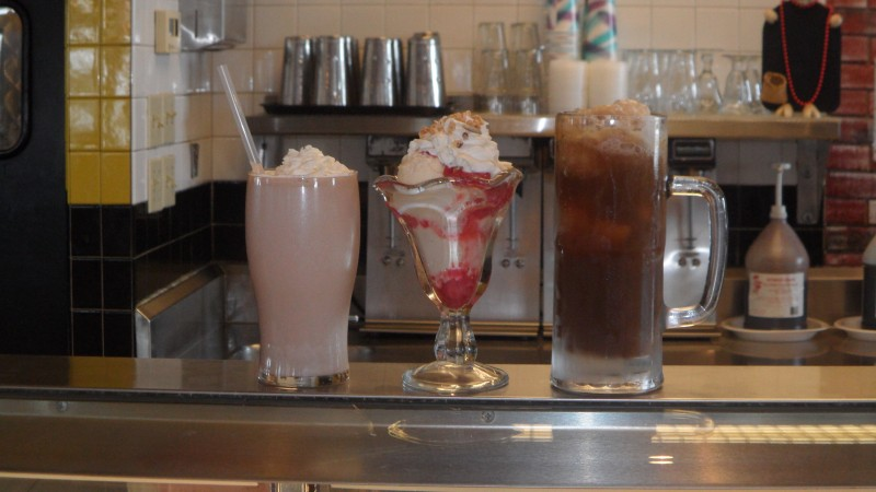 Try a delicious old fashioned milkshake and ice cream in a cup at Mindy's Ribs