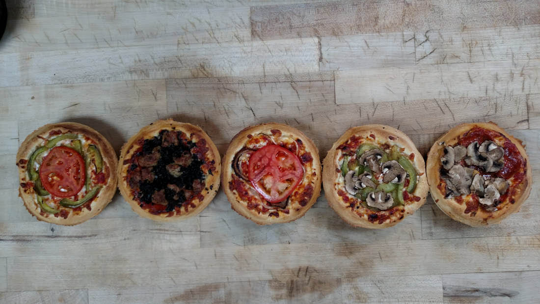 Five Miniature Pizzas from The Chicago Pizzeria