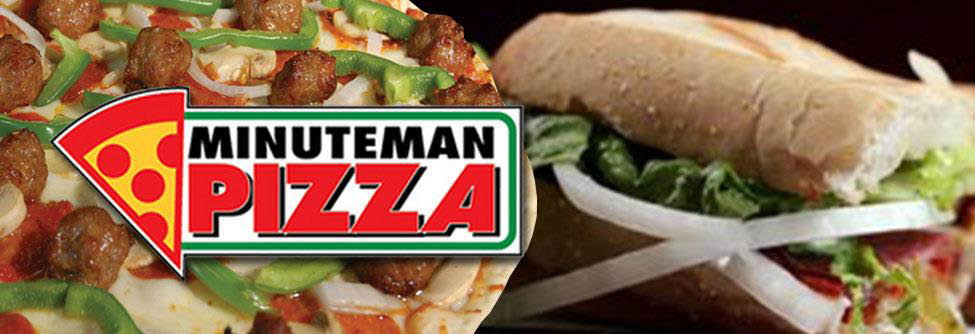 Minute Man Pizza Banner