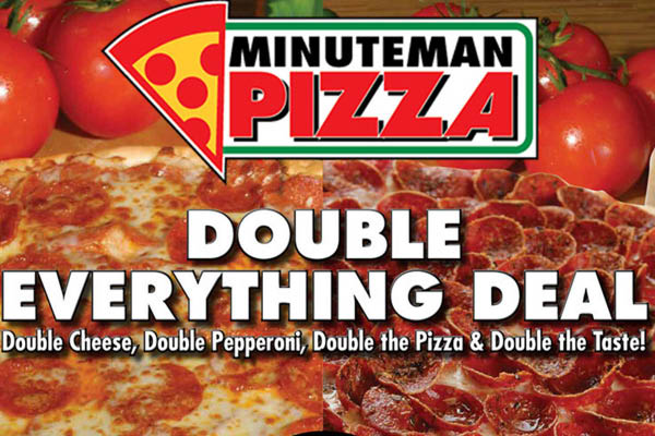 Minute Man Pizza double everything pizza