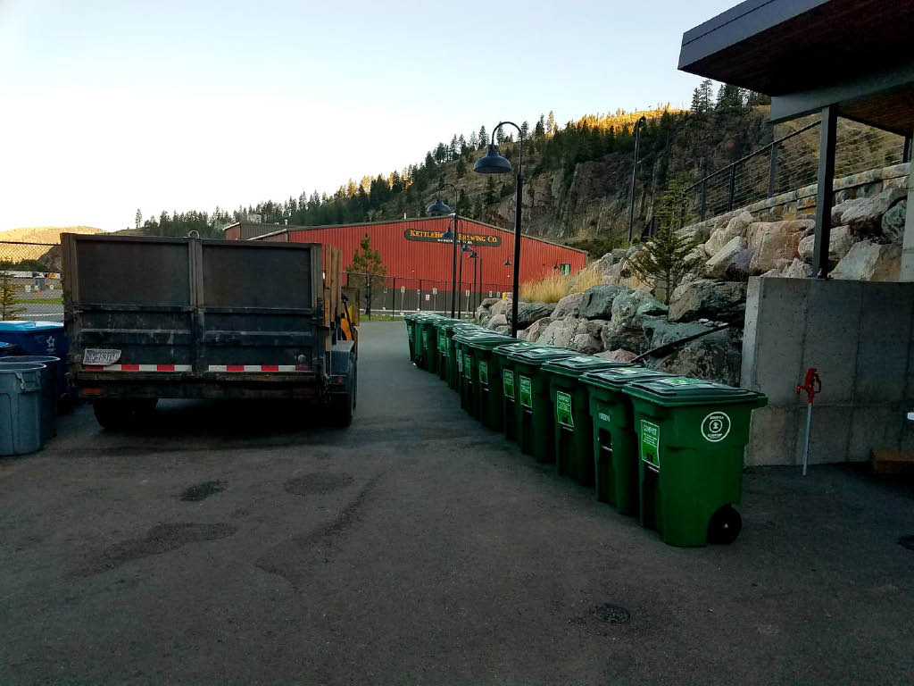 Compost pick-up reduces waste in the landfill
