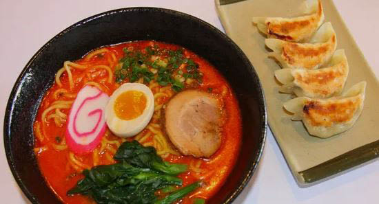 Udon noodles at ramen restaurant