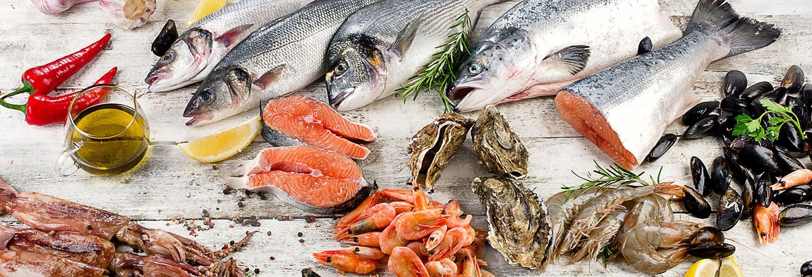 M&M Seafood Market Banner