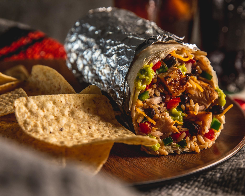 Est this burrito on your couch - call Moe's for local delivery