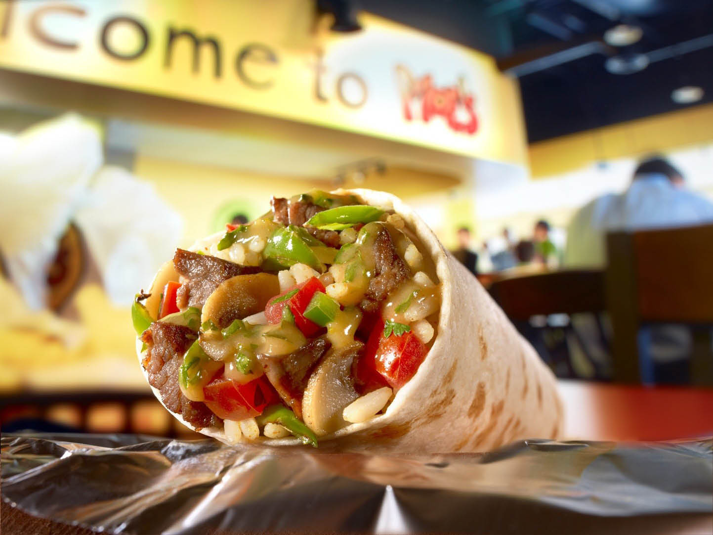 Moe's Southwest & TexMex Grill serves great steak burritos