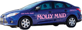 Molly Maid company vehicle logo