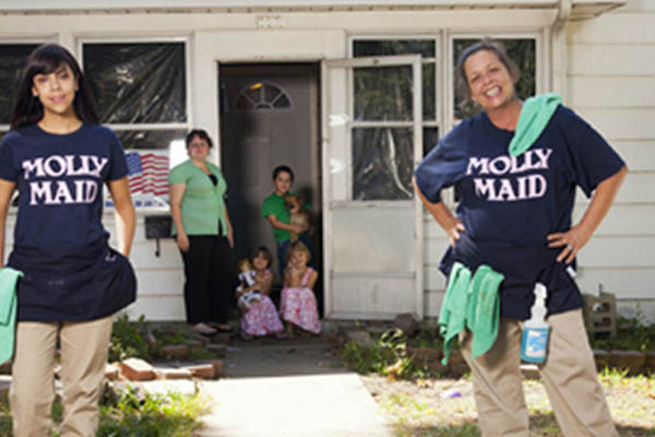 Molly Maid house cleaning and more.
