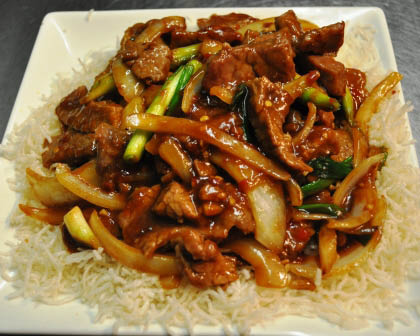 Delicious Mongolian Beef at House of Szechwan