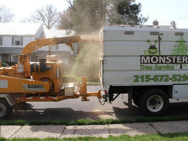 Monster Tree Service chipper truck