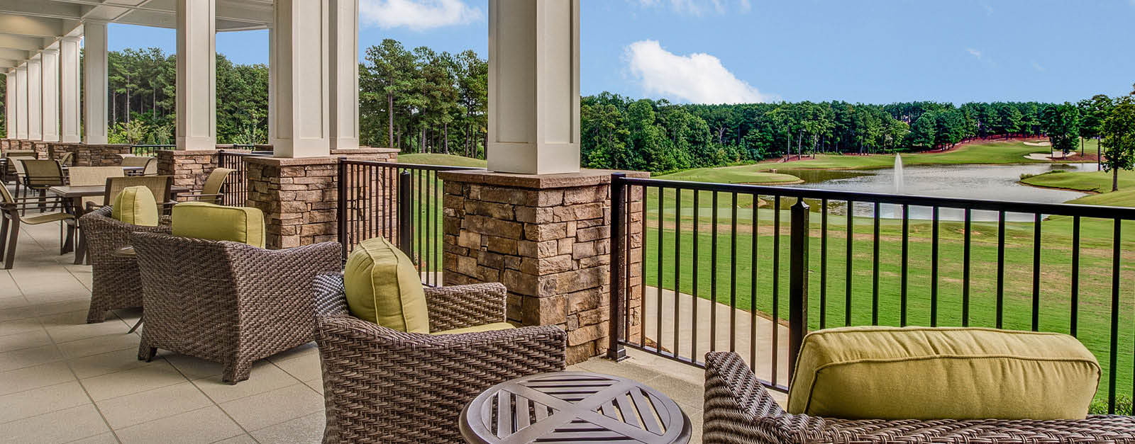 Cobblestone Park Golf Club sitting area