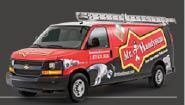 work van from Mr Handyman located in Weatherford. TX