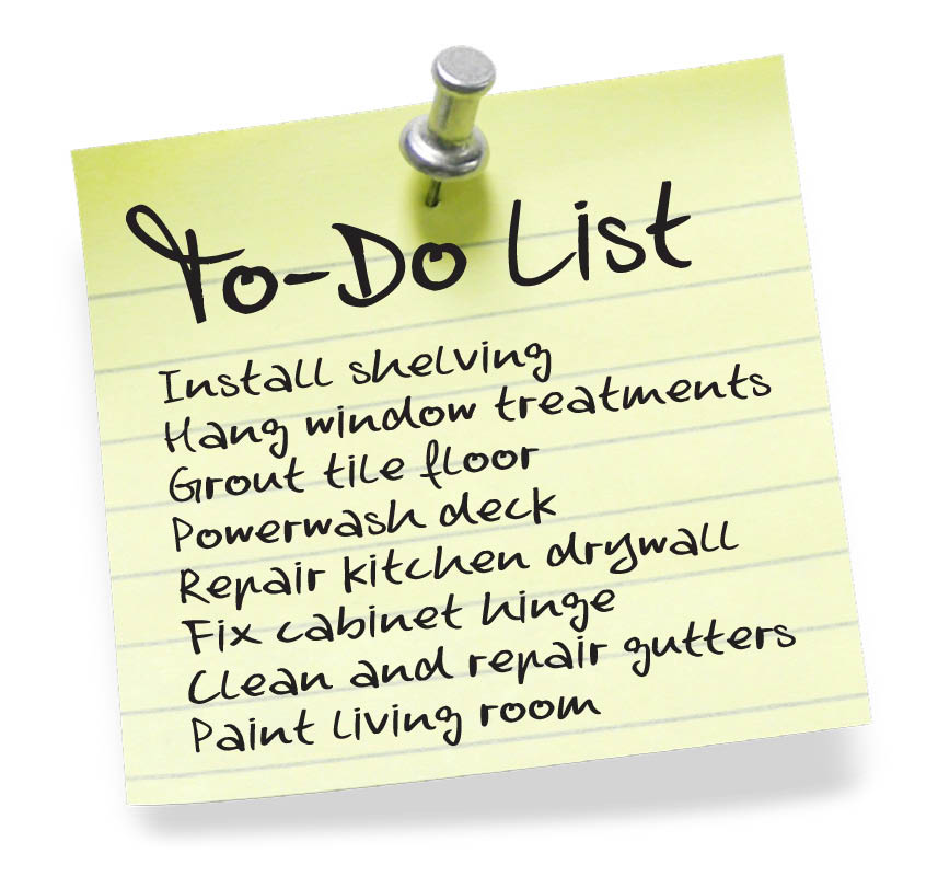To-Do lists are a chore! Get help today by calling Mr. Handyman Of Cape Cod and the Islands