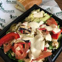 fresh salads at Mr. Pickle's Sandwich Shop; delis in Templeton, CA