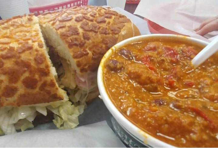 soup and sandwich for lunch in Templeton, CA