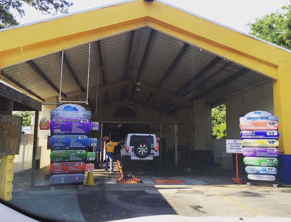 Mt. Pleasant Wash & Wax  exterior facilities in Mt Pleasant