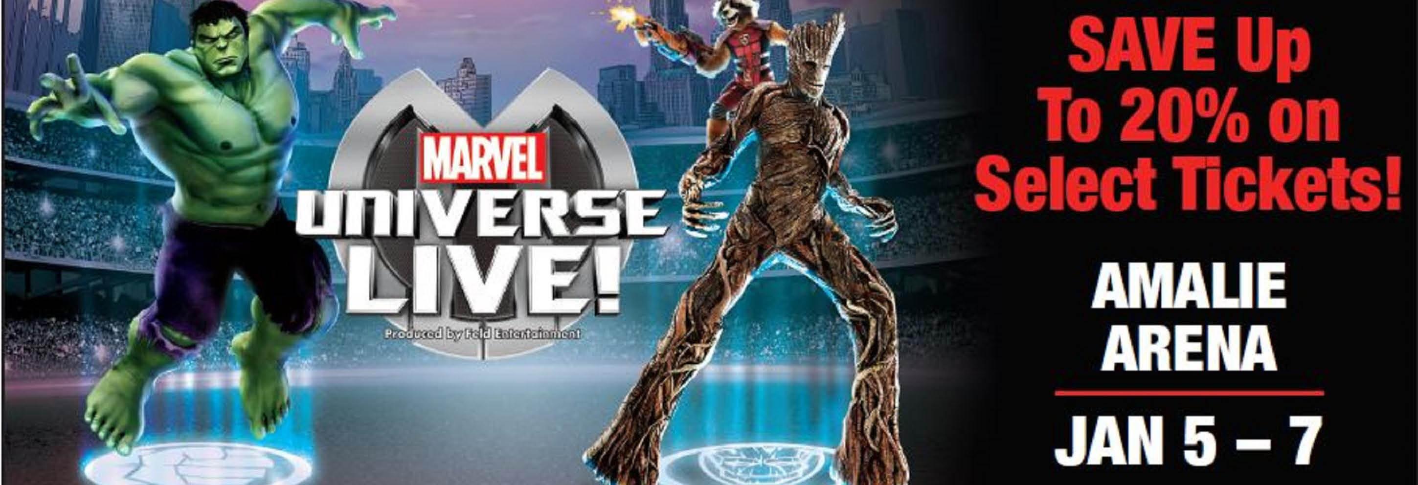 Marvel Universe Live at Amalie Arena in Tampa, FL Banner ad