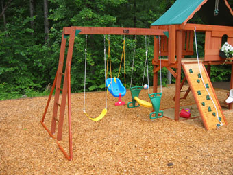 Ask us about the benefits of Safe T Mat playground mulch as a surfacing alternative