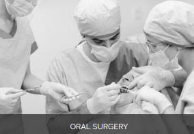 Oral surgery in process